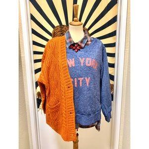 Beautiful NY tie dye casual design sweater